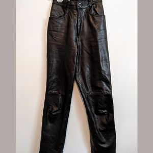 Vintage lambskin high waisted leather pants